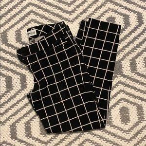 Old navy pixie Grid pants